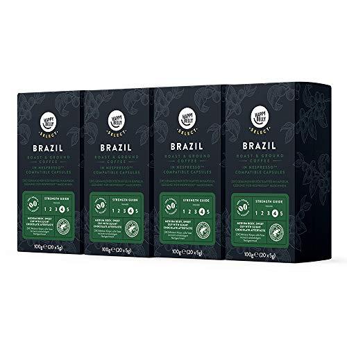 Pack de 4 Paquetes de 20 cápsulas, Nespresso, de café Brazil