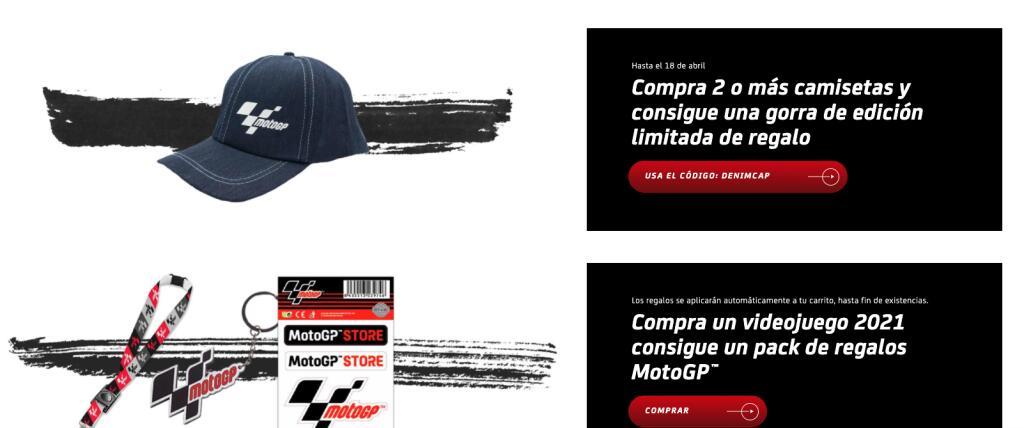 Regalos en MotoGP al comprar varios productos