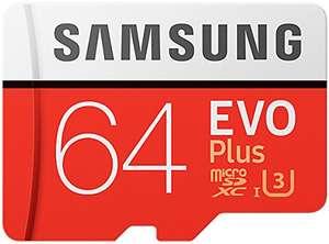 Samsung Evo Plus MicroSDXC 64GB UHS-I U3 Clase 10 + Adaptador ( + ofertas dentro)