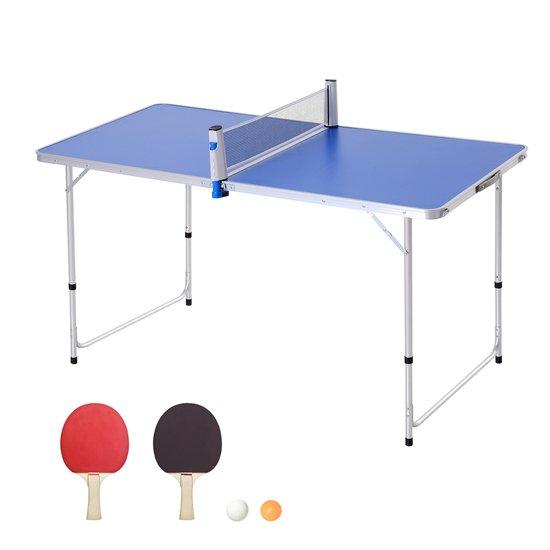 Mesa De Ping Pong Plegable Outsunny + Palas