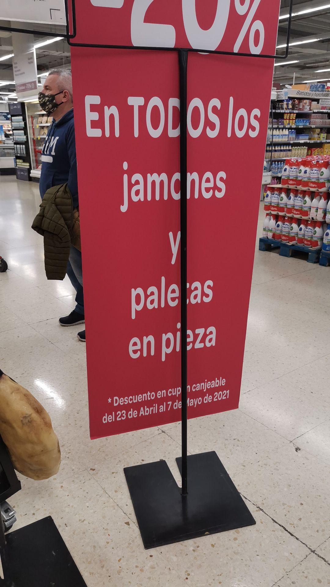 Carrefour 20% todos jamónes y paletas