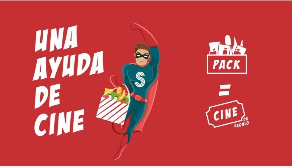 Entrada de Cine gratis Splau al entregar un pack de comida solidario