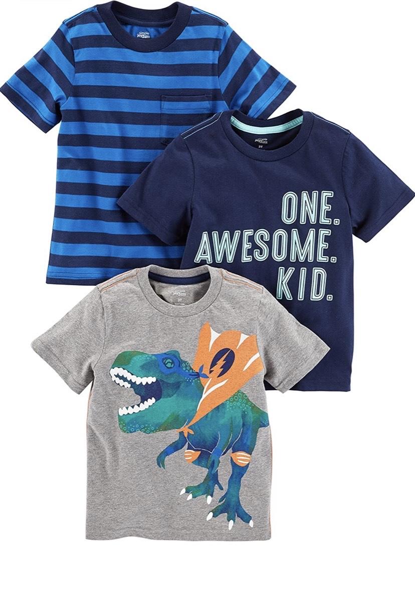 Talla 3 años pack de 3 camisetas Simple Joys by Carter's