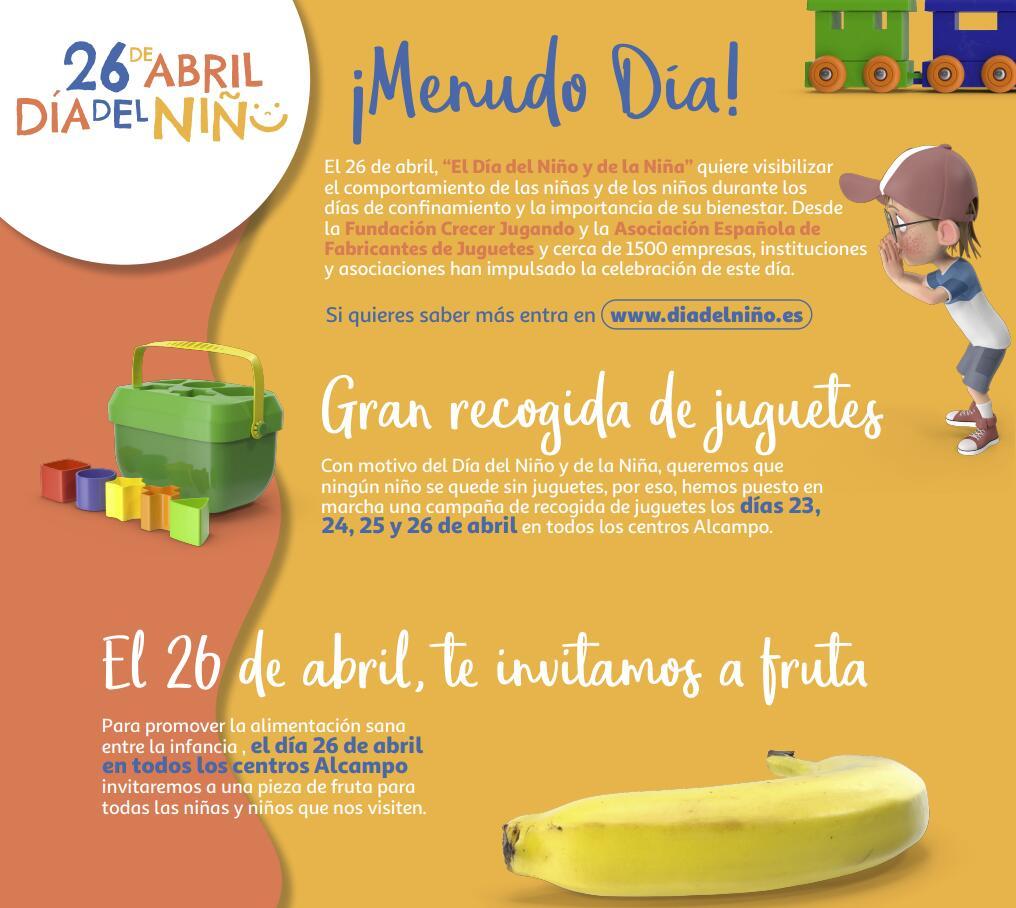 Actividades GRATIS Día de los Niños, AlCampo regalará frutas