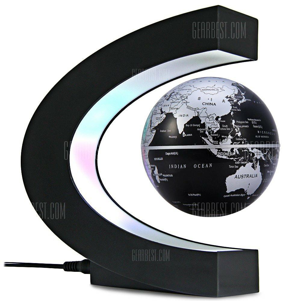 Decoración de globo terráqueo con levitación magnética
