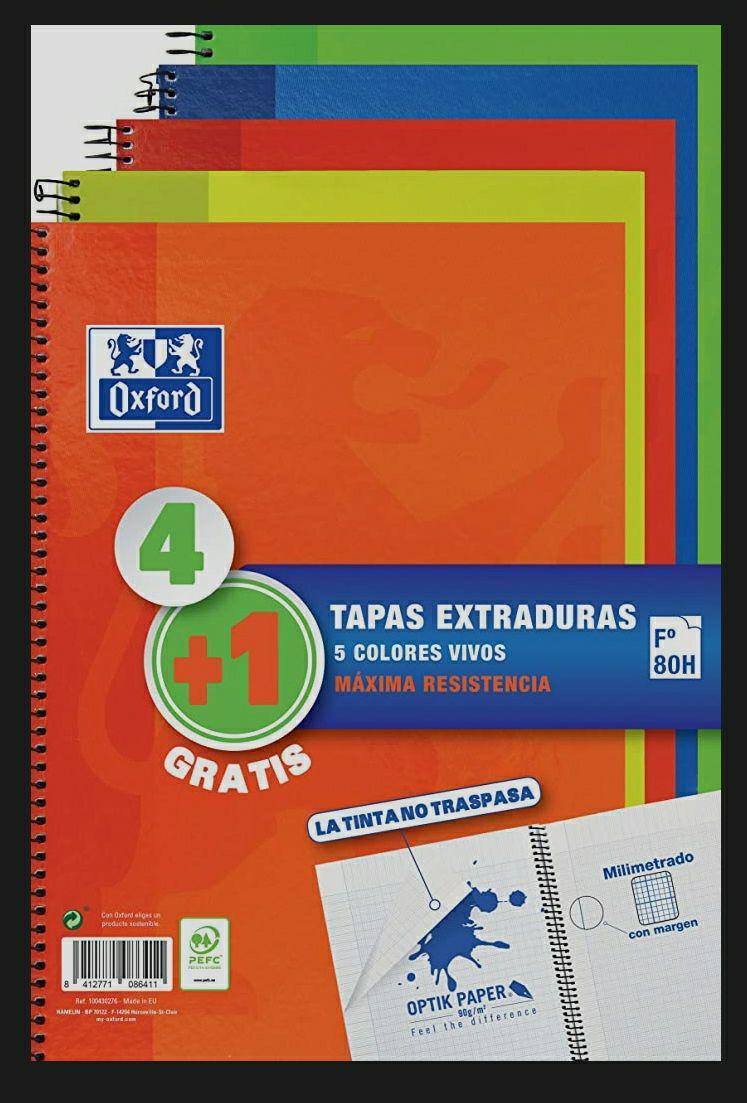 Cuadernos Oxford 4+1