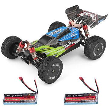 Coche RC Wltoys 144001 1/14 2.4G 4WD 60 km / h Dos baterías 7.4V 2600mAh - Desde Europa