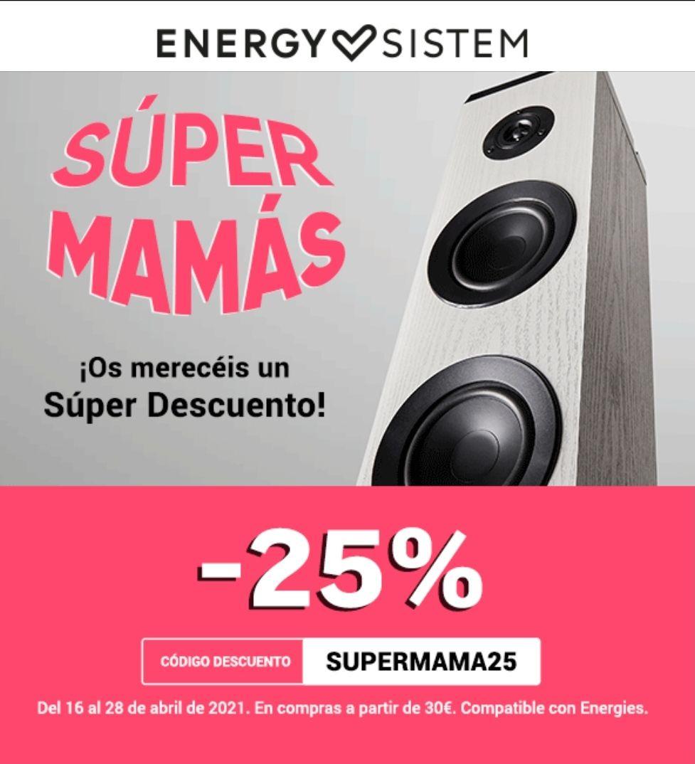 25% de DTO en Energy Sistem