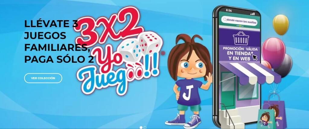 3x2 en Juegos Familiares (En Tienda y Web)