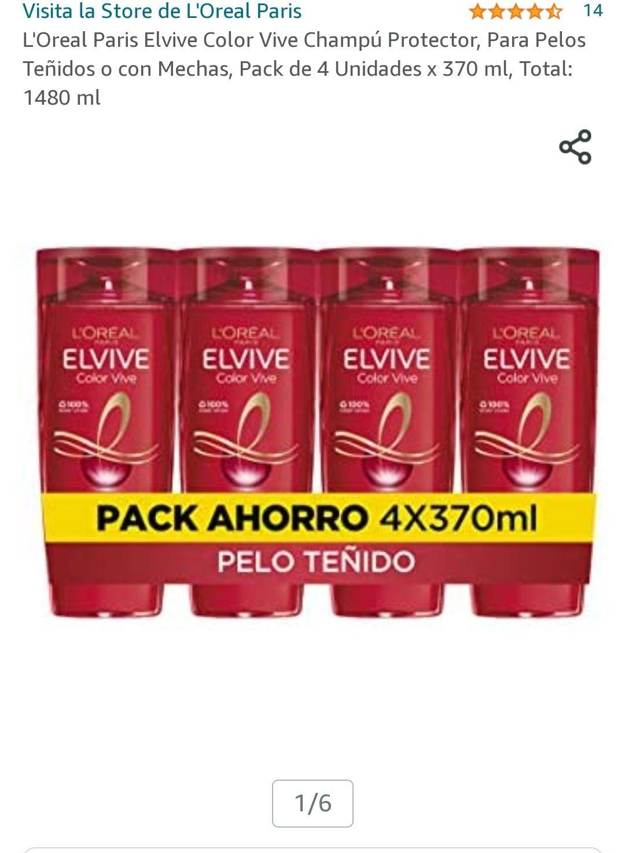 Champú Protector, Para Pelos Teñidos o con Mechas, Pack de 4 Unidades x 370 ml