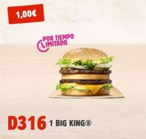BIG KING por solo 1€ - 20, 21 y 22 de Abril