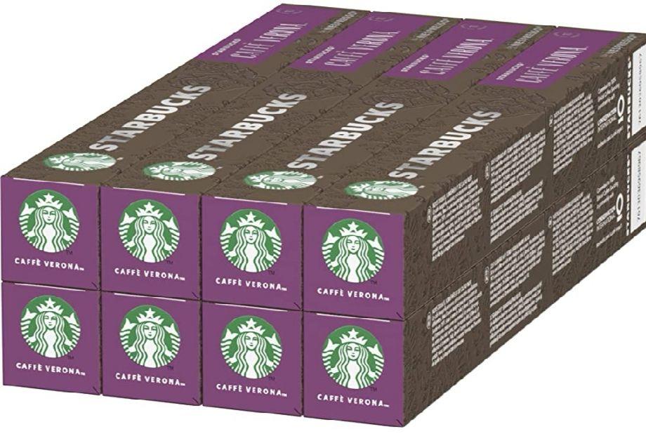 8x10 tubos de café Verona De Nespresso tostado intenso