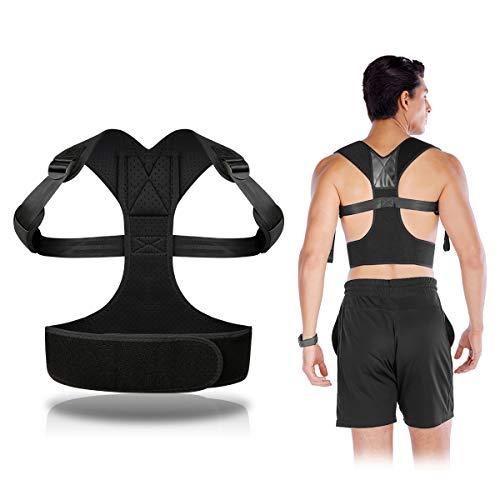 Corrector de Postura Espalda y Hombros, Espalda Recta Soporte para Aliviar el Dolor de Cinturón y Espalda, Cinturón Ajustable.