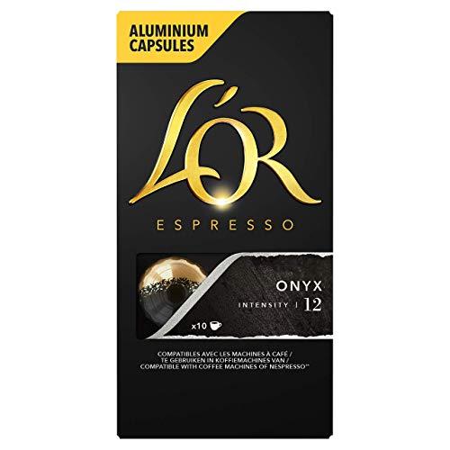 L'Or Espresso Café Onyx Intensidad 12 - 100 cápsulas Nespresso (recurrente)