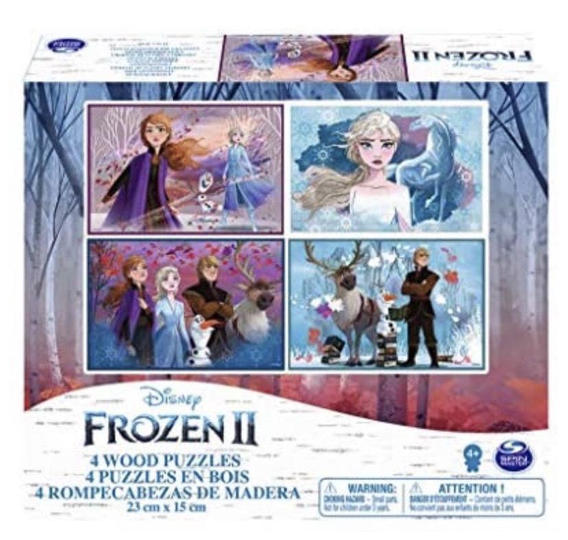 4 puzzles de madera Disney Frozen 2