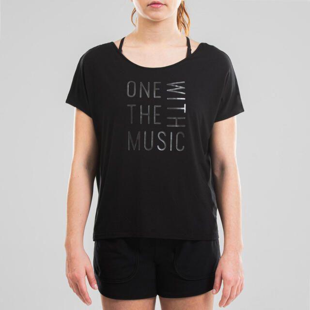 Camiseta danza moderna vaporosa mujer Decathlon