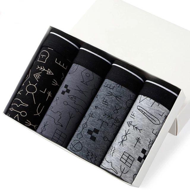 Pack 4 Boxer algodón
