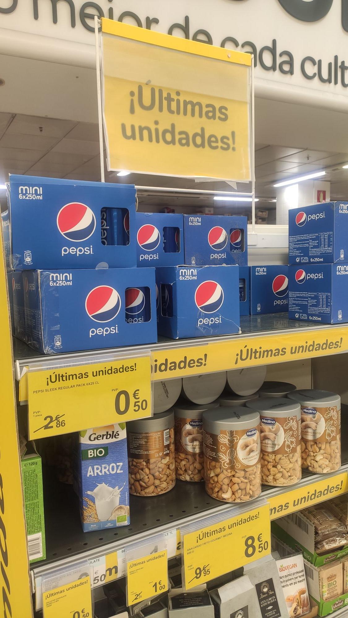 Pepsi mini en carrefour ciudad de la imagen Madrid