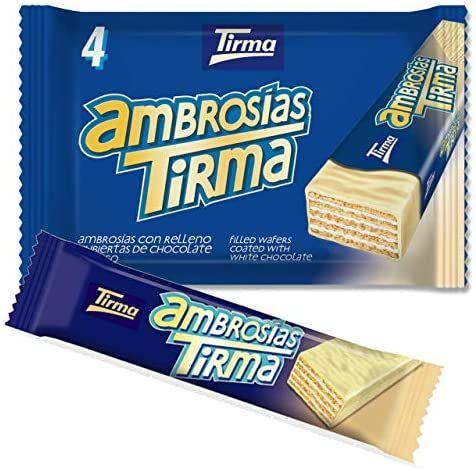 Tirma Ambrosías Blanco, Chocolate, 4 Unidades