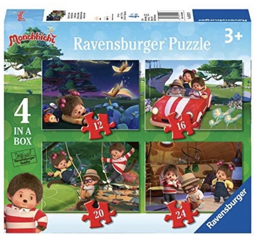 4 divertidos puzzles de Monchhichi
