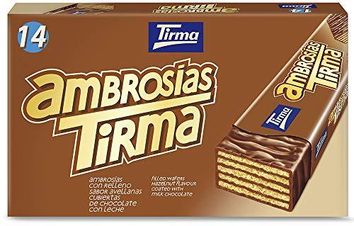 Tirma Ambrosía Chocolate con Leche y Avellana, 14 Unidades x 21.5g