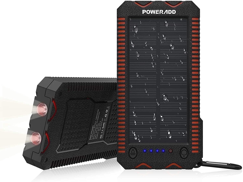 Powerbank 10.000mAh solar + linterna solo 11.9€
