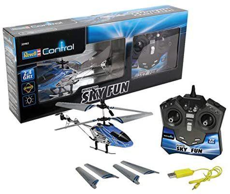 REACO Revell - Helicóptero Sky Fun RTF/3CH con radiocontrol, 2.4 GHz (Como nuevo)