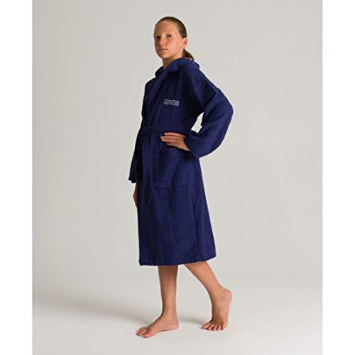 Arena Liquidación de albornoz, edad de 6 a 7 años. Color Azul.