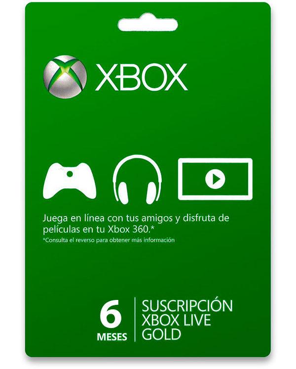 Xbox Gold 6 meses solo 16.7€