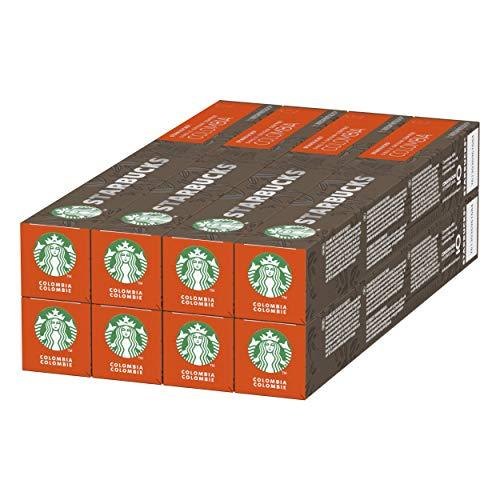 Pack de 8 tubos de 10 unidades de Starbucks Single Origin Colombia De Nespresso