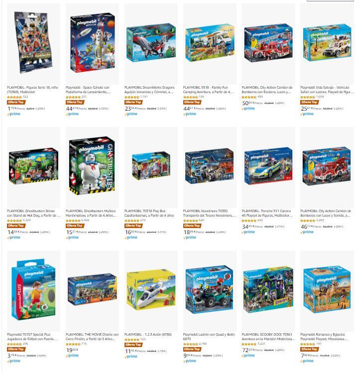 Descuentos en Playmobil [Amazon]