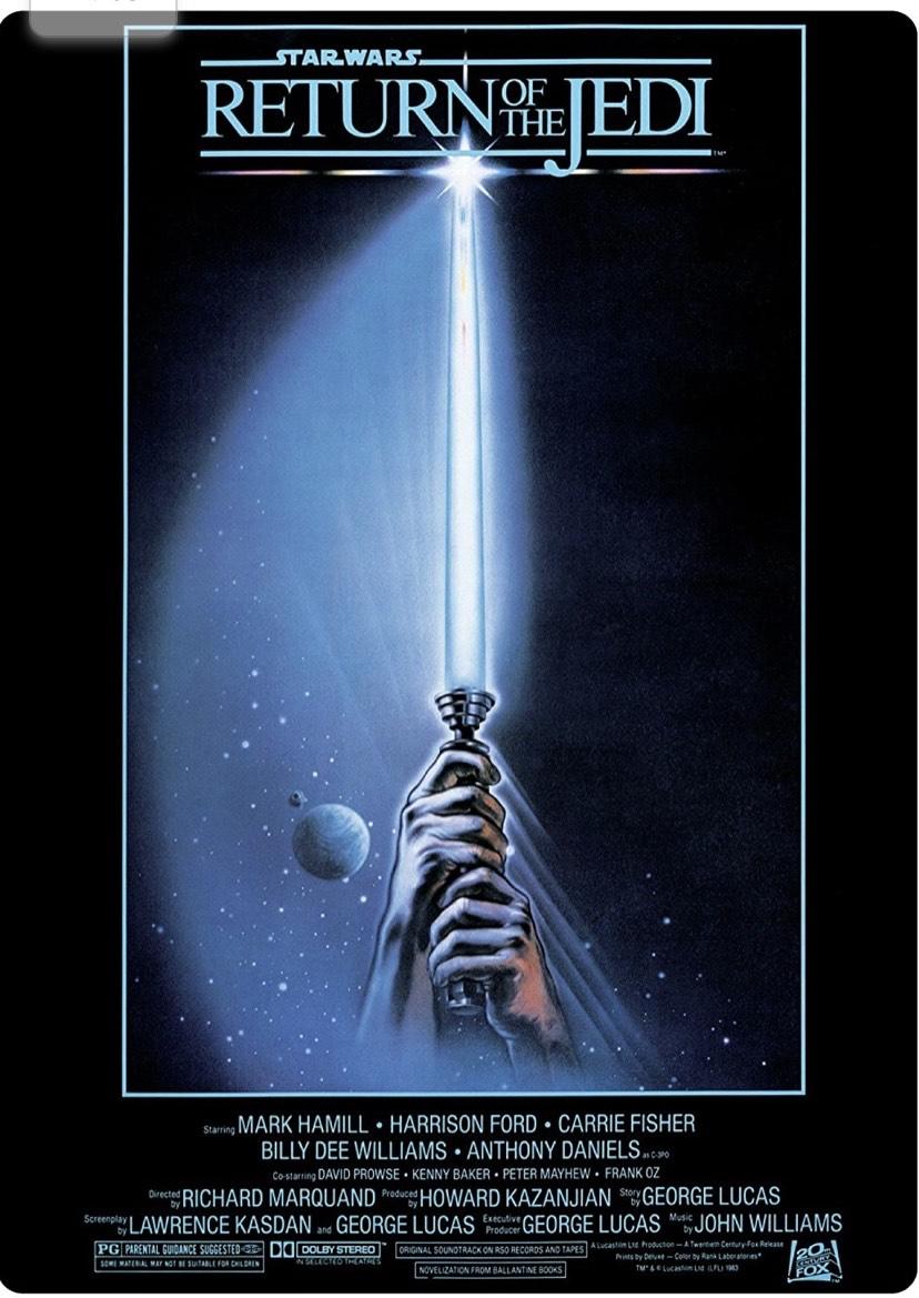 Póster Regreso DE LA Guerra DE Las Estrellas Jedi Metal