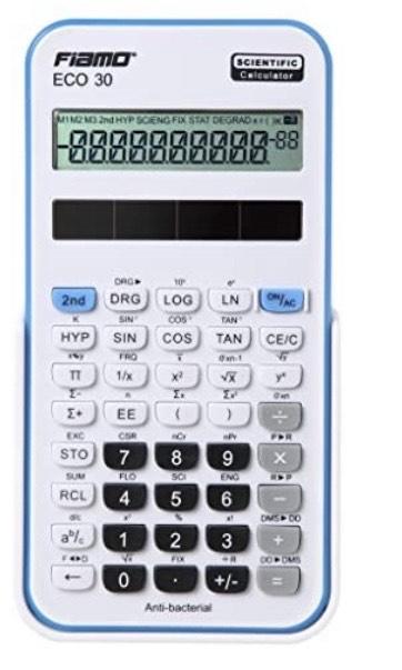 Fiamo ECO 30 - Calculadora científica con pantalla LCD