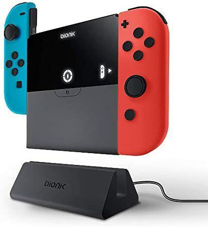 Base de carga portátil Bionik Power Plate para Nintendo Switch Joy-Con