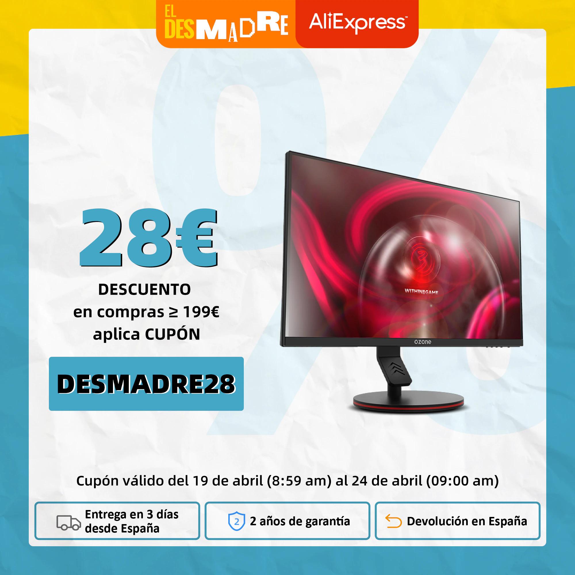 "Monitor OZONE 24,5"" FHD 144Hz 1ms Freesync/G-Sync HDR (Desde España)"