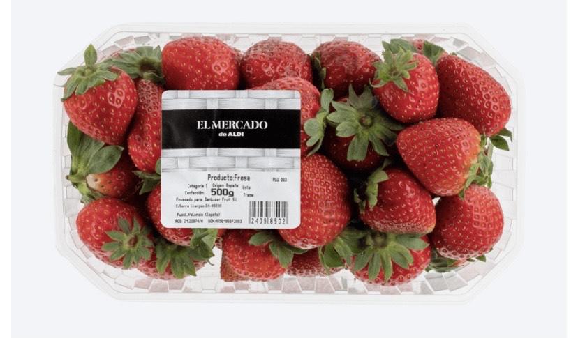 Fresas 0,500 kg en Aldi