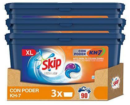 90 Pods Detergente Lavadora Skip Ultimate KH7