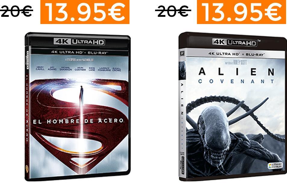 Selección de películas BLU-RAY 4K desde 13.95€