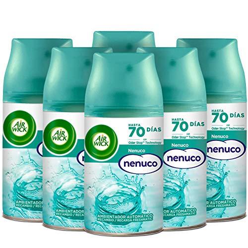 Pack de 6 recambios Air Wick Freshmatic aroma a nenuco por 14,24 € (compra recurrente)