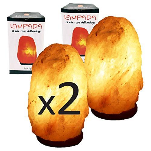 2 Lámparas de Sal Pakistán 2-3kg