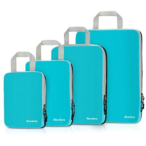 Set de Organizador de Maletas 4 en 1 Impermeable Organizador de Equipaje, Bolsas de Viaje