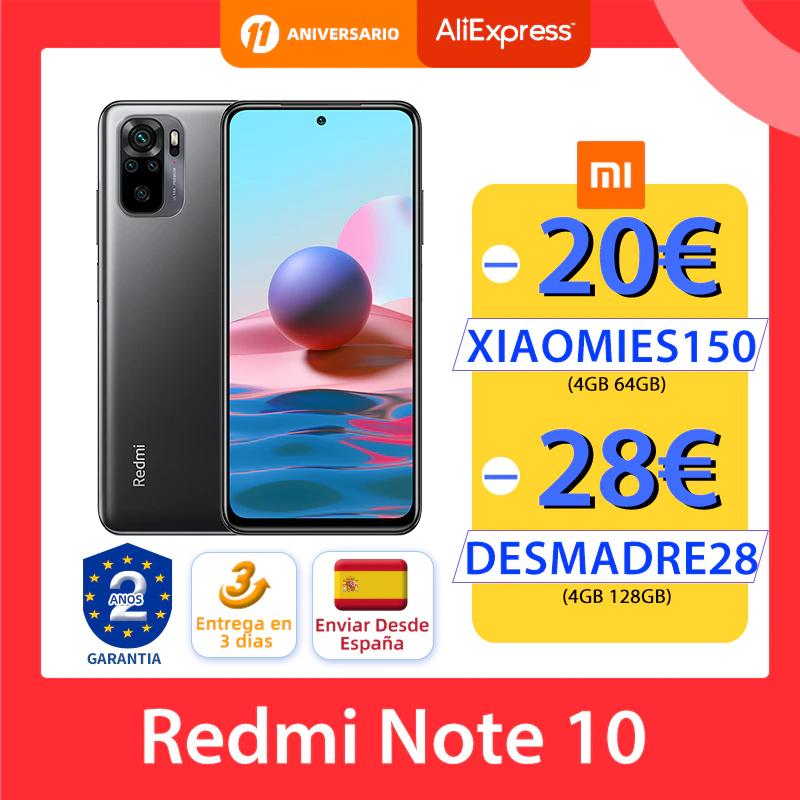 Redmi Note 10 4GB 128GB + Mi Band 5 de regalo(envío desde España)