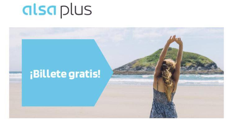 Viaje gratis con ALSA (ALSA PLUS)