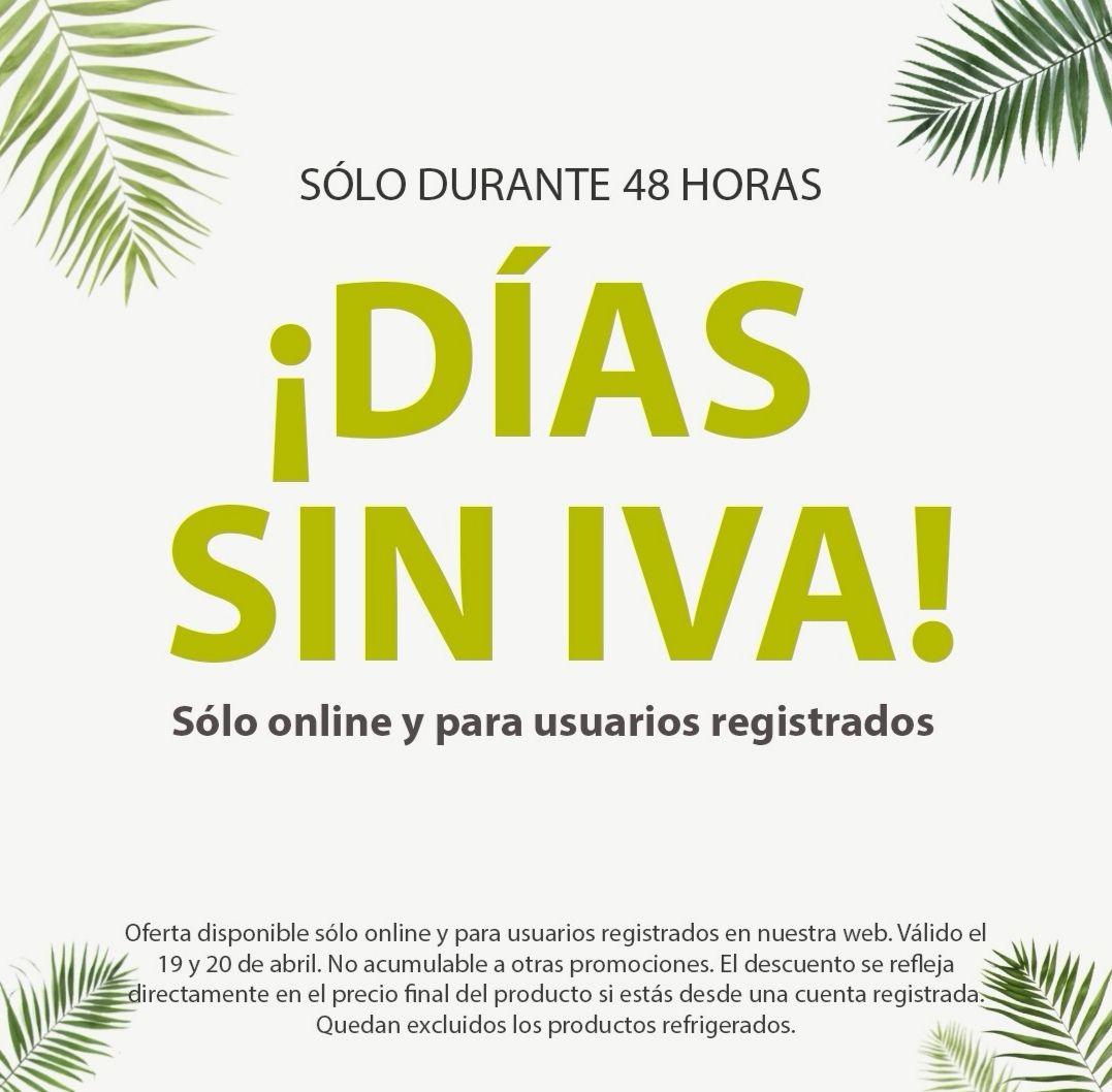 Días sin IVA en Herbolario Navarro