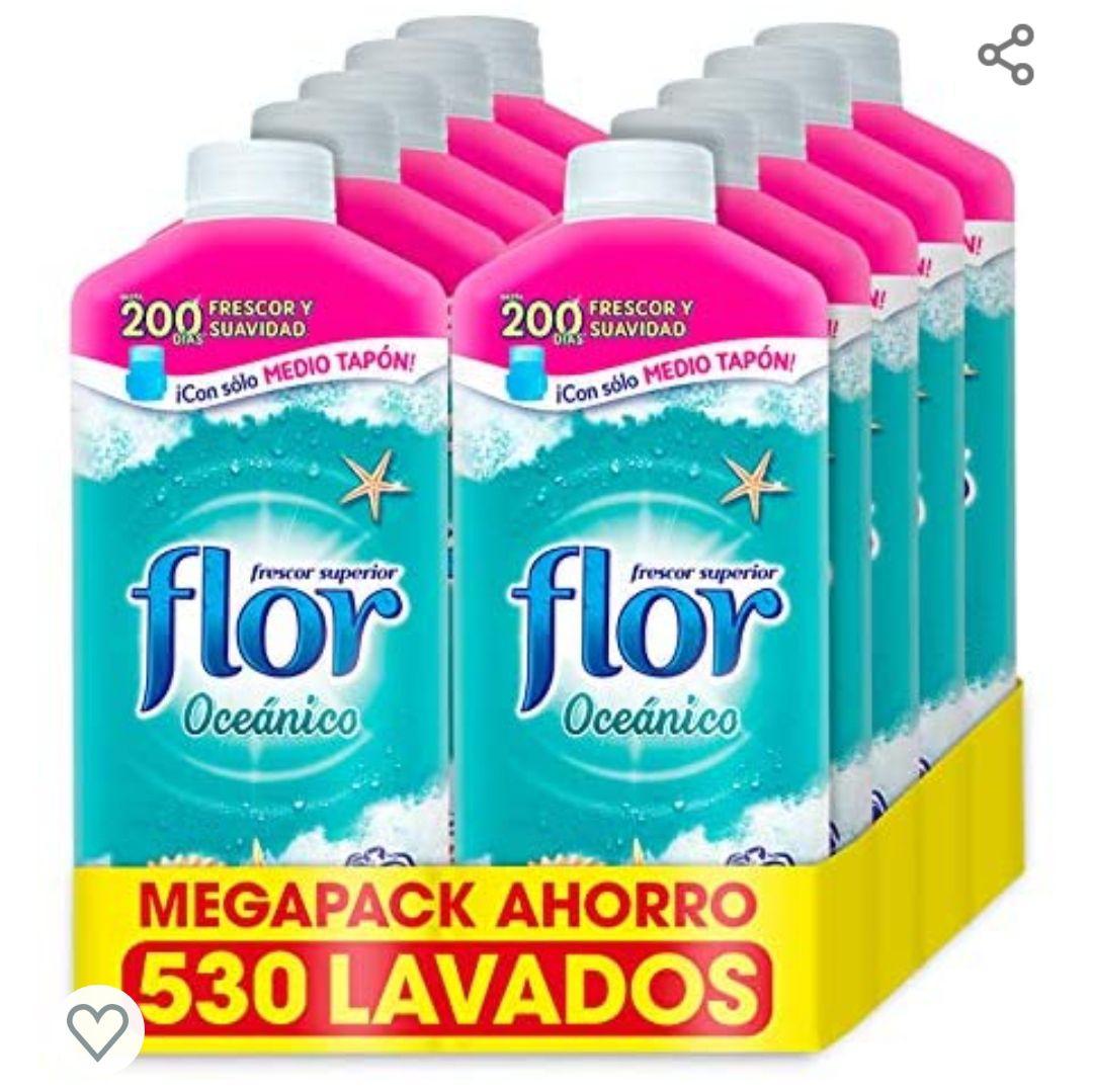 Flor - Suavizante para la ropa concentrado, aroma Oceánico - MegaPack 530 dosis