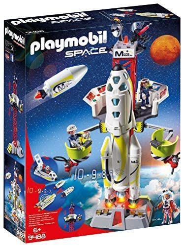 Playmobil - Space Cohete con Plataforma de Lanzamiento, Multicolor (9488)