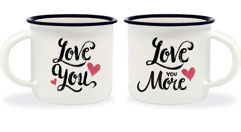 Set de 2 Tazas para espresso Legami Love