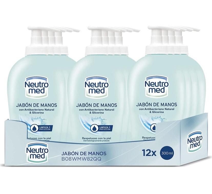 Pack de 12 unidades de 300 ml jabón líquido NEUTROMED - Jabón de Manos