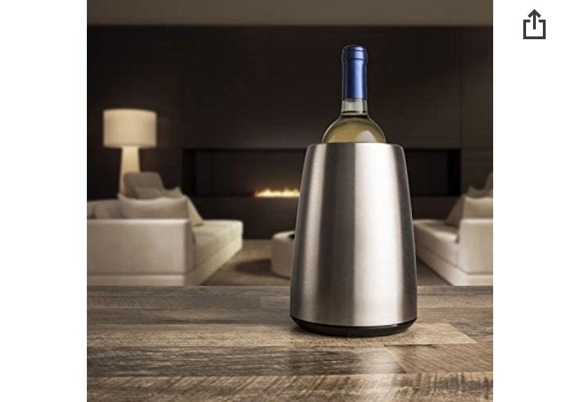 Enfriador de botellas de vino Vacuvin de acero inoxidable