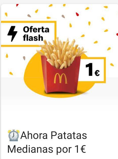 Patatas medianas a 1€ para acompañar a Big Mac a 1€